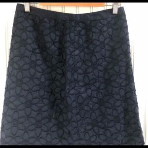 Talbots Embroidered Monochrome Skirt